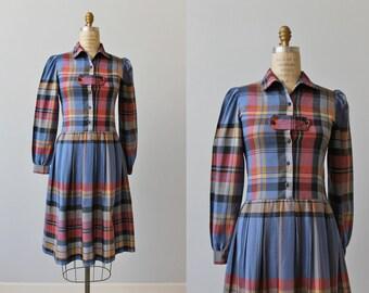 1980s Vintage Dress / Cotton Day Dress / Shirtwaist Dress / Wayfair