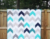 Follow Your Arrow, You CHOOSE size and fabrics, comfy cozy handmade bedding, king queen full twin throw