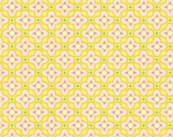 1 HALF YARD Tiled Primrose in yellow, Bijoux by Heather Bailey