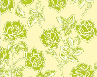 1 HALF YARD WallPaper Roses in Ivory, Bijoux by Heather Bailey