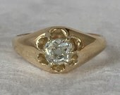 Reserved Second Payment Vintage Victorian .68 Carat Old Mine Cut Diamond Engagement Ring