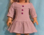 18 inch Doll Gray and White Dress