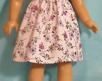 18 inch Doll Sleeveless Summer Dress with White Sandals