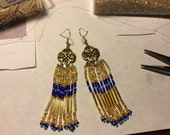 Gold-ish Seed Bead Earrings