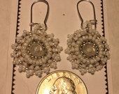 White, Pearl Seed Bead Earrings