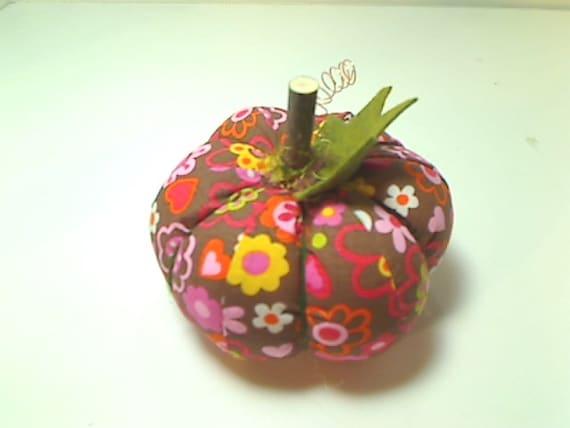 Size 4 Retro Flower Fabric Pumpkin Halloween Decor Fall
