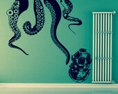 Sea Dive Mural-Vinyl Wall Decals-Choose Any Color