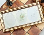 Triple Oval Deluxe Gold Bead Photo Frame Weddings Christmas Valentine Day Gifts