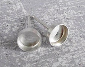 Stud Earring Blanks, 6mm Bezel Cup Studs for Setting Cabochons, Handmade Jewelry Findings, 6 pair