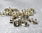 Stud Ear Nuts, Post Earring Backs, Earring Findings, 20 pack of Butterfly Clasp