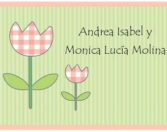 Tulips Calling Card