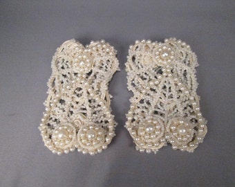 Antique Pearl Dress Cuffs - Beautiful!