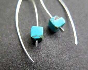 turquoise jewelry. stone earrings. silver earings. birthstone jewelry. splurge.
