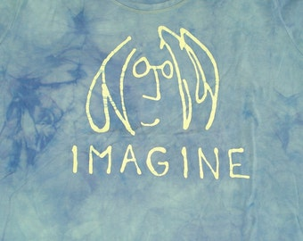 Batik John Lennon The Beatles Imagine Toddler Tee Shirt CUSTOM MADE KIds Tee Shirt