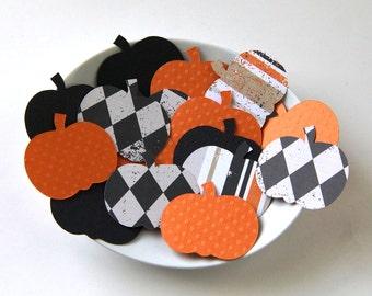 30 Halloween Pumpkin Die Cuts . 1.75 x 1.5 inches
