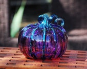 Purple Blown Glass Pumpki...