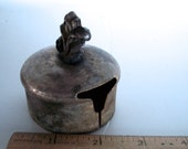 Vintage Metal Stamp Holder Or Decorative Cover Distressed Aged  2 & 3/8 Inches Wide X 2.5 Inches Tall