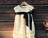 Repurposed Girls Lace Dress  2-3 T