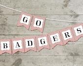 Wisconsin Go Badgers Chevron Printable Banner