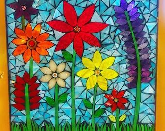 Flower gatden window panel