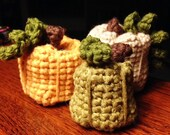 Pumpkins - Fall Decoration - Crocheted