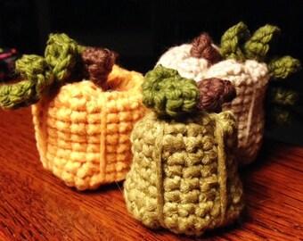 Pumpkins - Fall Decoration - Crocheted