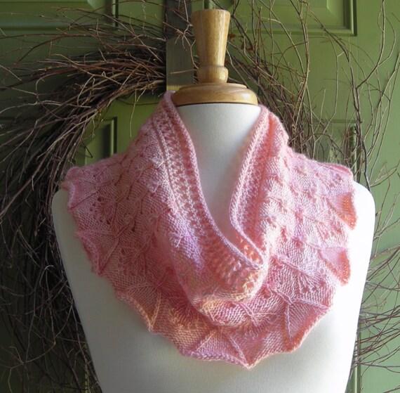 Knitting Pattern scarf cowl shawl wrap - Flower Box Scarflette - easy knittin...