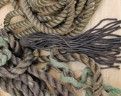 Antique Vintage Metallic Metal Rope Lot Heavy Patina Metal