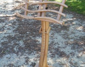 """The """"Swan"""" Music Stand In Solid Cherry- special order for Catherine"""