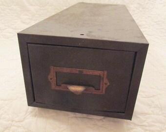 Vintage Industrial One Drawer File Metal SALE