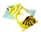 Eye Pillow SPRING DAISIES yellow print rice filled, no scents added