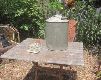 Antique Tin Man Gas Can Seamed with Bail Handle