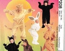 Bunny Rabit Bear Cat Lion Kangaroo Adult Halloween Costume McCalls 8953 P208 Sewing Pattern Misses Mens Adult Size 34 36