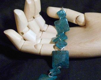 Blue Marbled Resin Link Bracelet