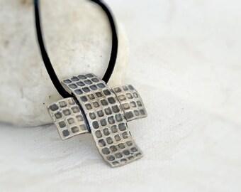 Sterling Silver Cross Pendant, Statement Silver Cross