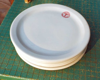 2 Bread or Salad Plates, United States Army, Medical Department, Royal China, Sebring, Ohio, made in USA