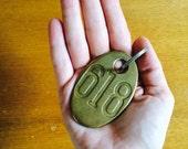 Brass Key, Brass Key Ring, Brass Locker Ring, Metal Numbers, Vintage Numbers, Locker Ring, Vintage Keychain, 618