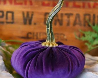 Scented Velvet Pumpkin, REGAL PURPLE