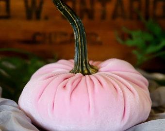Scented Velvet Pumpkin, PASTEL PINK