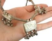 Vintage Kuchi, Gypsy Necklace, Bells Dangle, Banjara, Tribal Afghan, Boho Jewelry, Statement, Choker, Ethnic Necklace, Hippie Chic, India