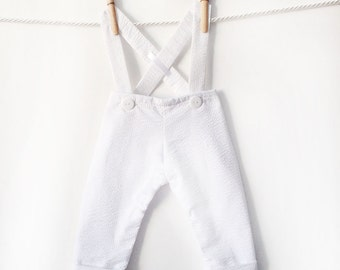 Baby Boy White Pants, Baptism Outfit Boy, Baby Boy Christening Pants, Boy Blessing Pants, White Longalls, Christening Outfit, Baptism Outfit