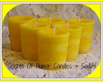 BUTT NAKED Scented Votive Candles - Handmade Votive Candle - Highly Scented - Gift Boxed Set - Hand Poured In USA