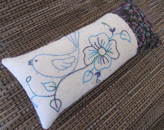 Bluebird Pincushion with hand embroidery