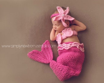 6 to 9 month Pink Mermaid Halloween Costume