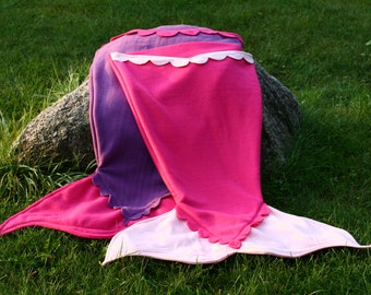 Fleece Mermaid Tail Blanket, Adult Sizes