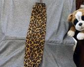 Plastic Bag Holder Sock, Cheetah Brown Print