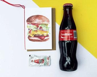 Cheeseburger Blank Card