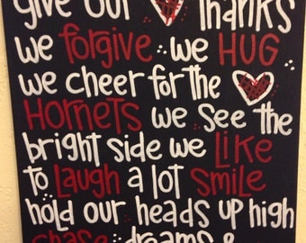 Red and Black Hornet Fan Canvas