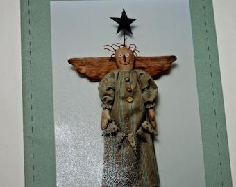 Raggedy Angel, Pattern #36, With hearts and Star, Sunnyknoll, Folk Art & Craft Pattern #36, UNCUT