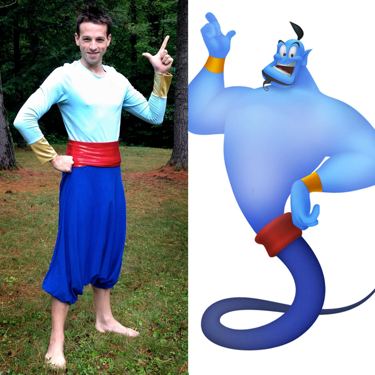 Aladdin Genie Halloween Costume // Genie of the Lamp Shirt and